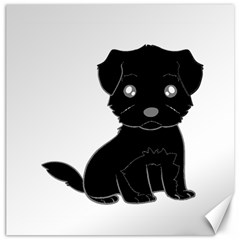 Affenpinscher Cartoon Canvas 12  x 12  (Unframed)