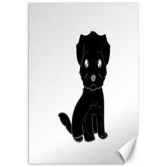 Affenpinscher Cartoon Canvas 12  x 18  (Unframed)