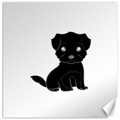 Affenpinscher Cartoon Canvas 16  x 16  (Unframed)