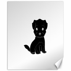 Affenpinscher Cartoon Canvas 16  x 20  (Unframed)