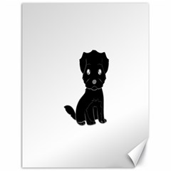Affenpinscher Cartoon Canvas 18  x 24  (Unframed)