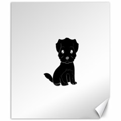 Affenpinscher Cartoon Canvas 20  x 24  (Unframed)