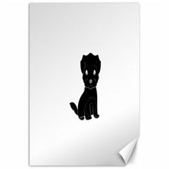 Affenpinscher Cartoon Canvas 20  x 30  (Unframed)