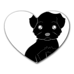 Affenpinscher Cartoon Mouse Pad (Heart)