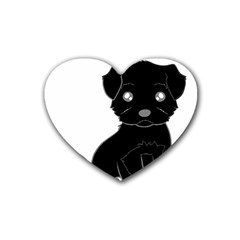 Affenpinscher Cartoon Drink Coasters 4 Pack (Heart)