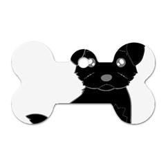 Affenpinscher Cartoon Dog Tag Bone (Two Sided)