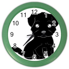 Affenpinscher Cartoon Wall Clock (Color)