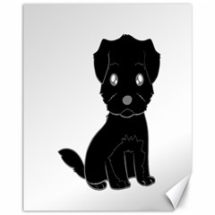 Affenpinscher Cartoon Canvas 11  x 14  (Unframed)