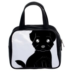 Affenpinscher Cartoon Classic Handbag (Two Sides)