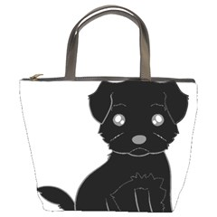 Affenpinscher Cartoon Bucket Handbag