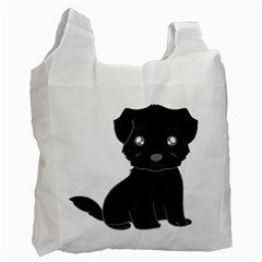 Affenpinscher Cartoon White Reusable Bag (One Side)