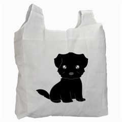 Affenpinscher Cartoon White Reusable Bag (Two Sides)