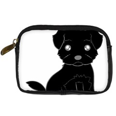 Affenpinscher Cartoon Digital Camera Leather Case