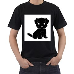 Affenpinscher Cartoon Men s T-shirt (Black)