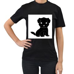 Affenpinscher Cartoon Women s T-shirt (Black)