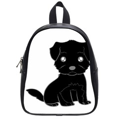 Affenpinscher Cartoon School Bag (Small)