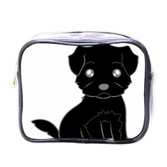 Affenpinscher Cartoon Mini Travel Toiletry Bag (One Side)