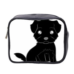 Affenpinscher Cartoon Mini Travel Toiletry Bag (Two Sides)