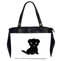 Affenpinscher Cartoon Oversize Office Handbag (Two Sides)