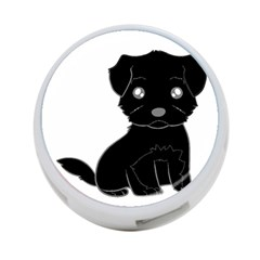 Affenpinscher Cartoon 4-Port USB Hub (One Side)