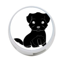 Affenpinscher Cartoon 4-Port USB Hub (Two Sides)