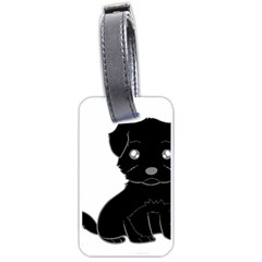 Affenpinscher Cartoon Luggage Tag (Two Sides)