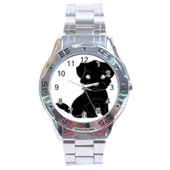 Affenpinscher Cartoon Stainless Steel Watch