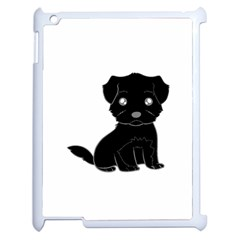 Affenpinscher Cartoon Apple iPad 2 Case (White)