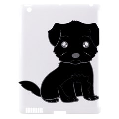 Affenpinscher Cartoon Apple iPad 3/4 Hardshell Case (Compatible with Smart Cover)