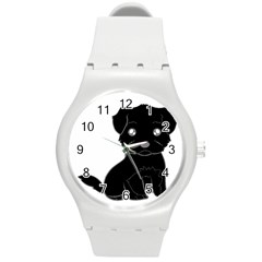 Affenpinscher Cartoon Plastic Sport Watch (Medium)