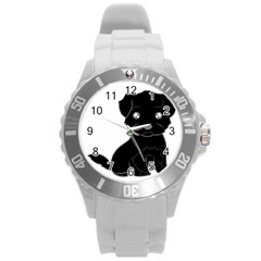 Affenpinscher Cartoon Plastic Sport Watch (Large)