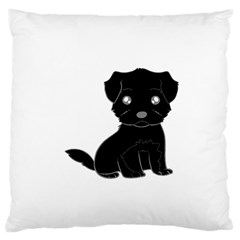 Affenpinscher Cartoon Large Cushion Case (Two Sided)