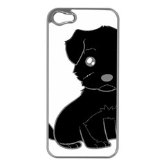 Affenpinscher Cartoon Apple iPhone 5 Case (Silver)