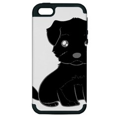 Affenpinscher Cartoon Apple iPhone 5 Hardshell Case (PC+Silicone)