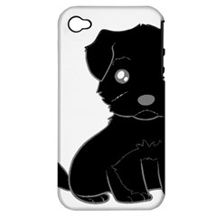 Affenpinscher Cartoon Apple iPhone 4/4S Hardshell Case (PC+Silicone)