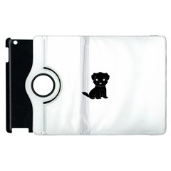 Affenpinscher Cartoon Apple iPad 2 Flip 360 Case
