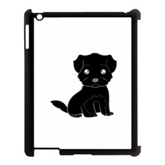 Affenpinscher Cartoon Apple iPad 3/4 Case (Black)