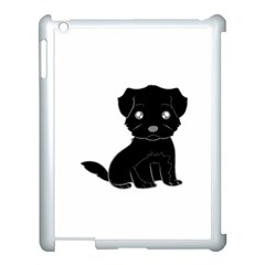 Affenpinscher Cartoon Apple iPad 3/4 Case (White)