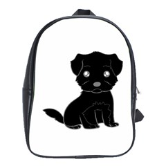 Affenpinscher Cartoon School Bag (XL)