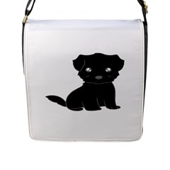 Affenpinscher Cartoon Flap Closure Messenger Bag (Large)