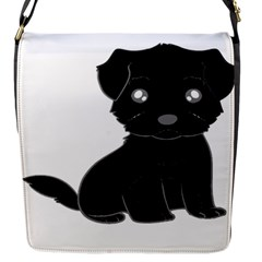 Affenpinscher Cartoon Flap Closure Messenger Bag (Small)