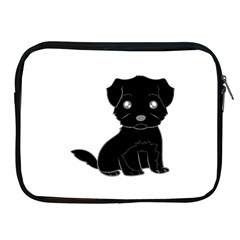 Affenpinscher Cartoon Apple iPad Zippered Sleeve