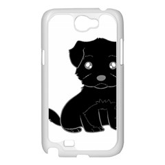 Affenpinscher Cartoon Samsung Galaxy Note 2 Case (White)