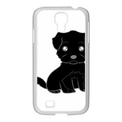 Affenpinscher Cartoon Samsung GALAXY S4 I9500/ I9505 Case (White)