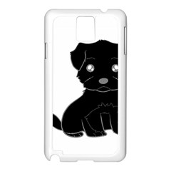 Affenpinscher Cartoon Samsung Galaxy Note 3 N9005 Case (White)
