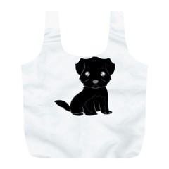 Affenpinscher Cartoon Reusable Bag (L)