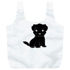 Affenpinscher Cartoon Reusable Bag (XL)