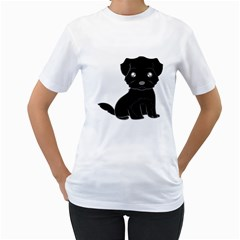 Affenpinscher Cartoon Women s T-Shirt (White)