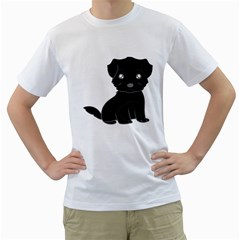 Affenpinscher Cartoon Men s T-Shirt (White)