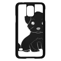 Affenpinscher Cartoon Samsung Galaxy S5 Case (Black)